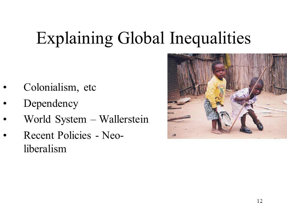 Explaining Global Inequalities