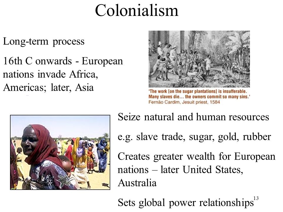 Colonialism Long-term process