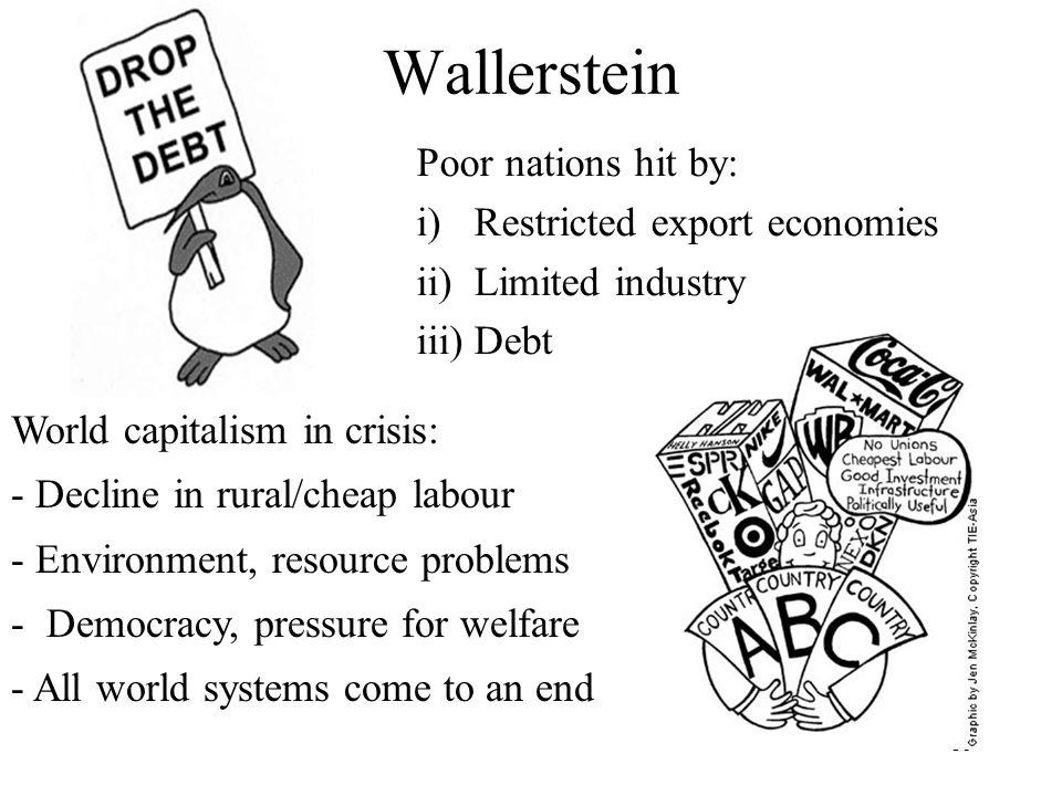 Wallerstein Poor nations hit by: Restricted export economies