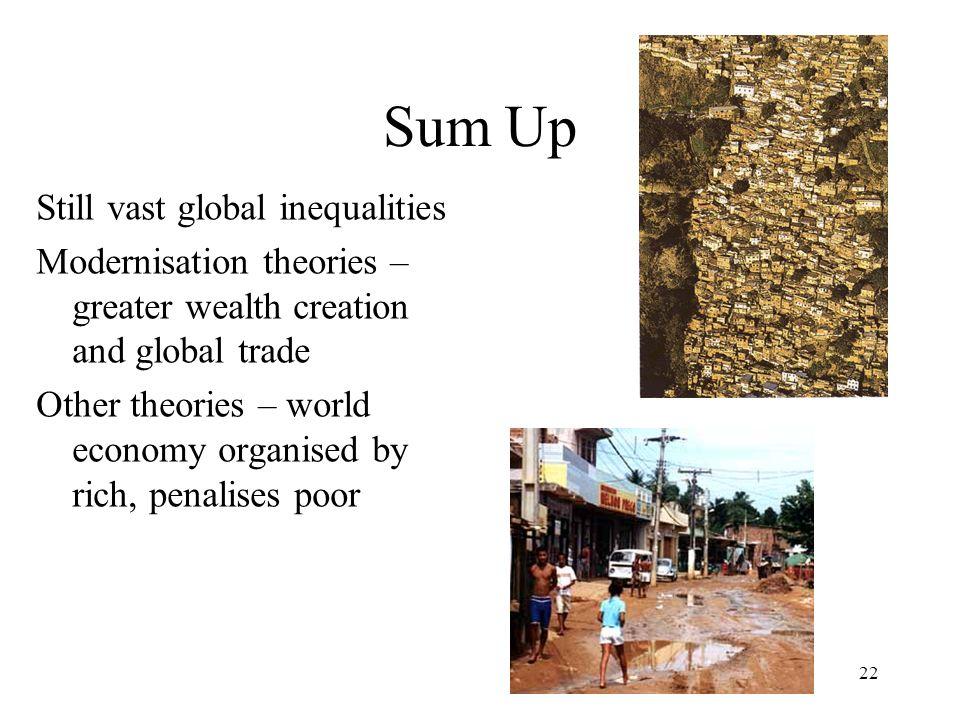Sum Up Still vast global inequalities