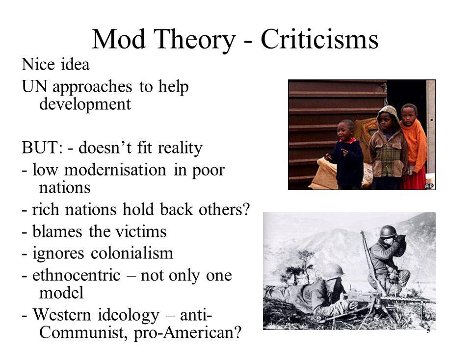 Mod Theory - Criticisms