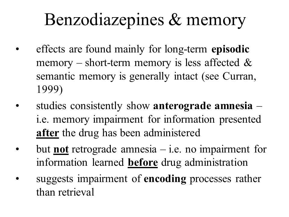 Benzodiazepines & memory