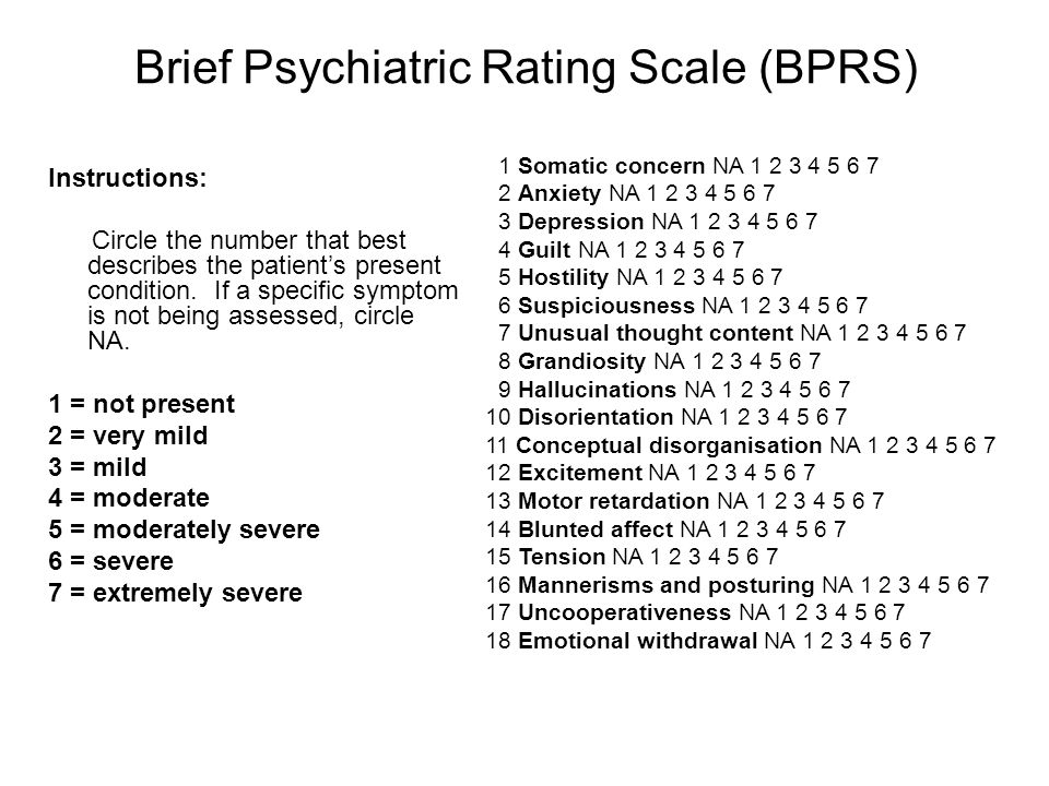 Brief Psychiatric Rating Scale (BPRS)
