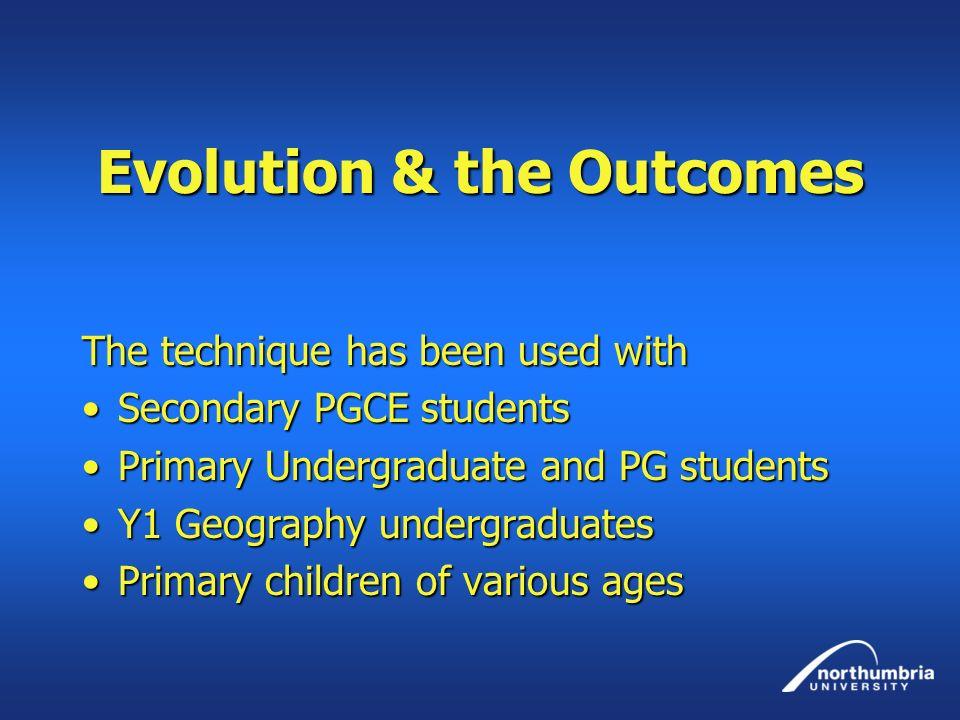 Evolution & the Outcomes