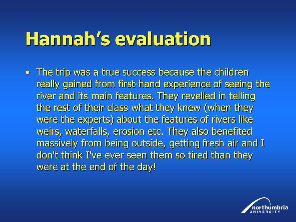 Hannah's evaluation