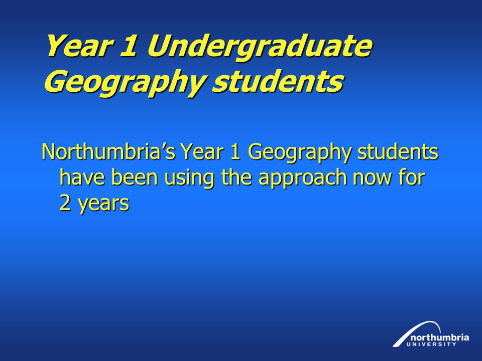 Year 1 Undergraduate Geography students