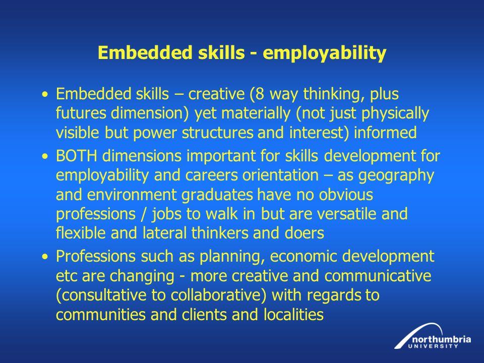Embedded skills - employability
