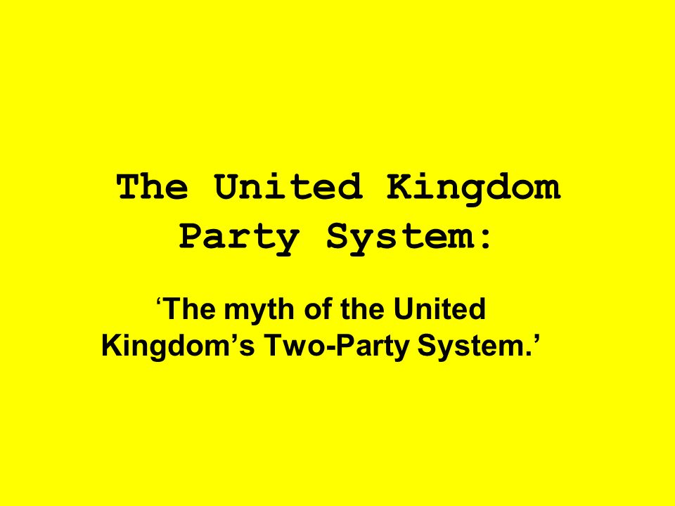 The United Kingdom Party System: