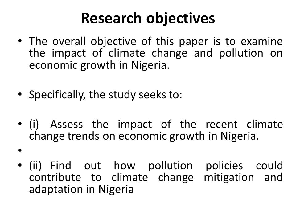 CLIMATE CHANGE, POLLUTION AND ECONOMIC GROWTH: ANALYSIS ...
