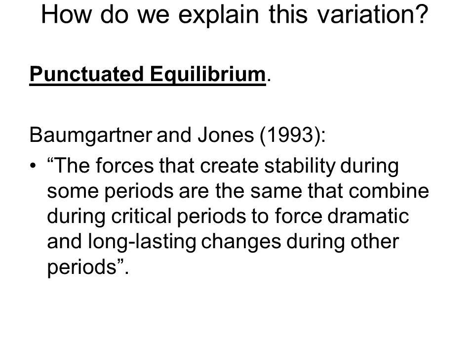 How do we explain this variation