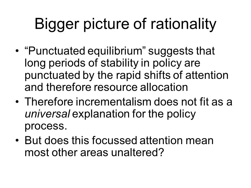 Bigger picture of rationality