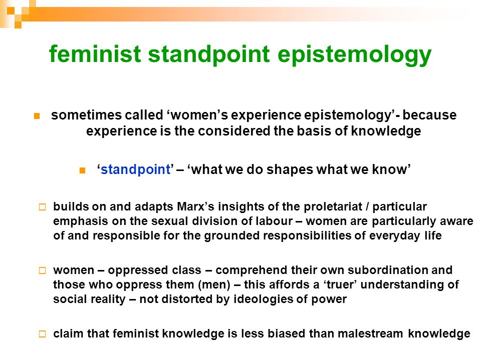 feminist standpoint epistemology