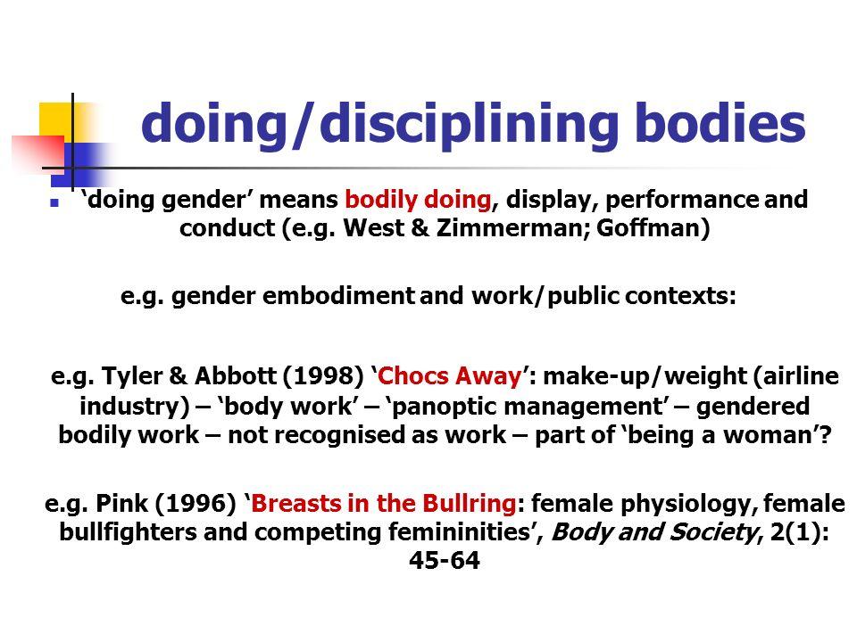 doing/disciplining bodies