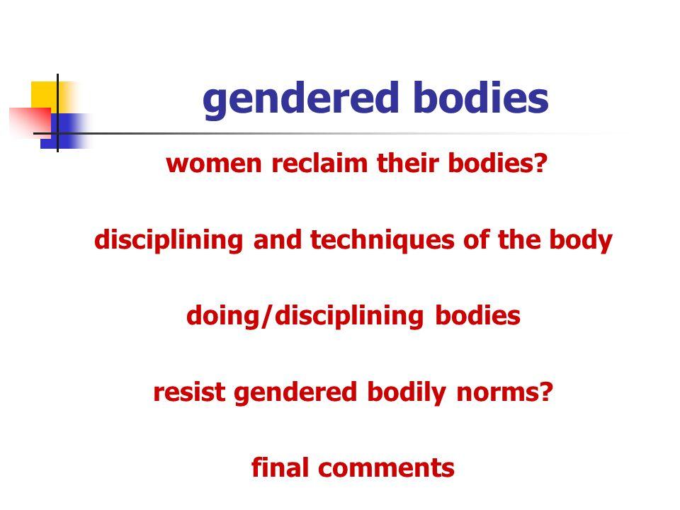 gendered bodies women reclaim their bodies