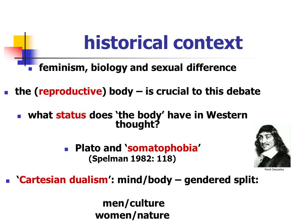 historical context feminism, biology and sexual difference