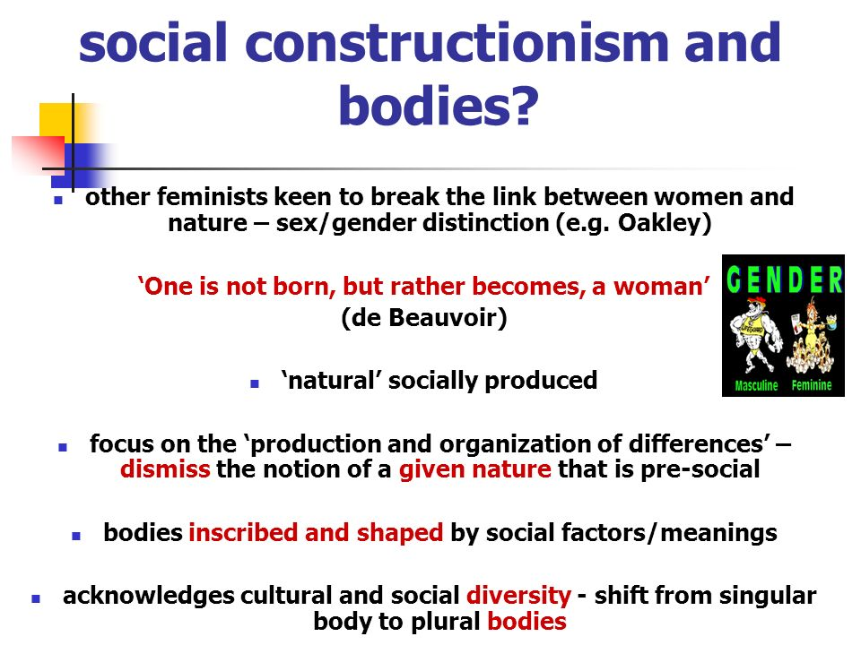 social constructionism and bodies