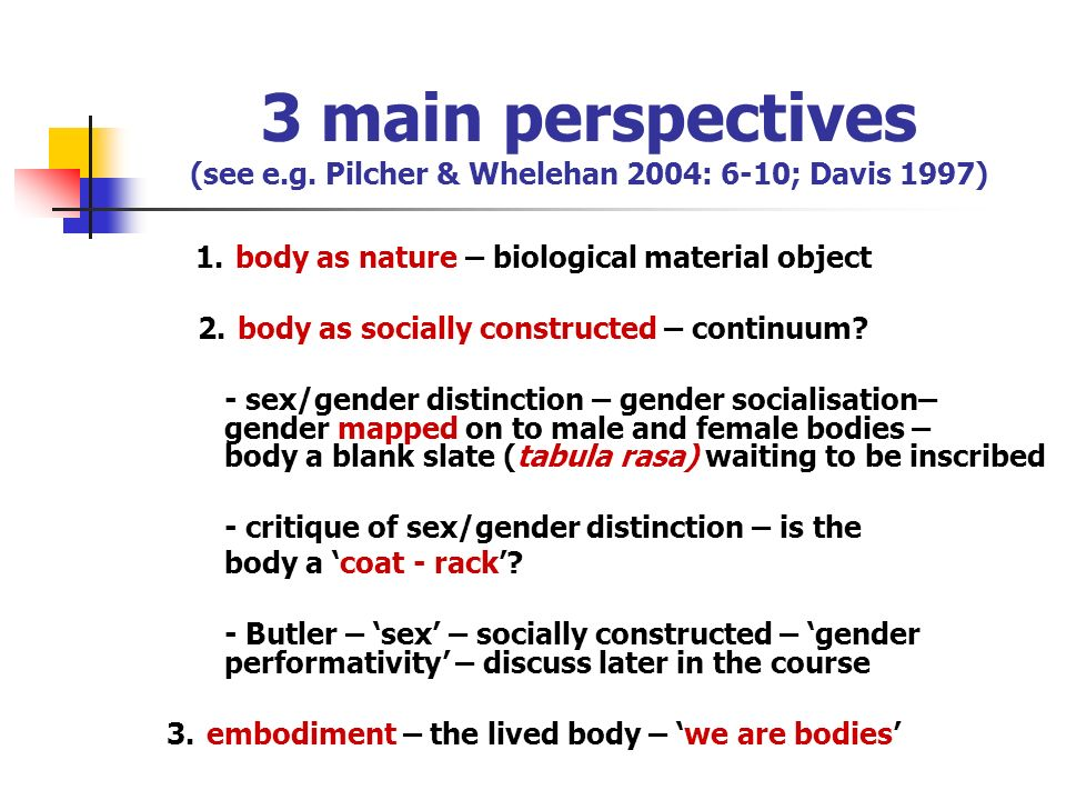 3 main perspectives (see e. g