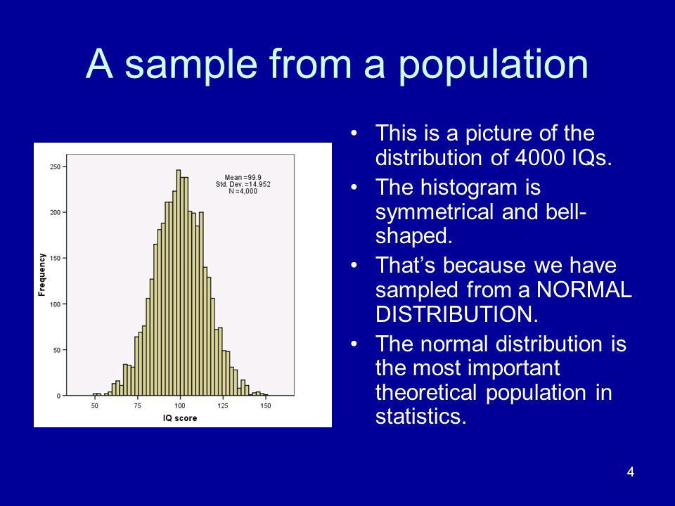 A sample from a population