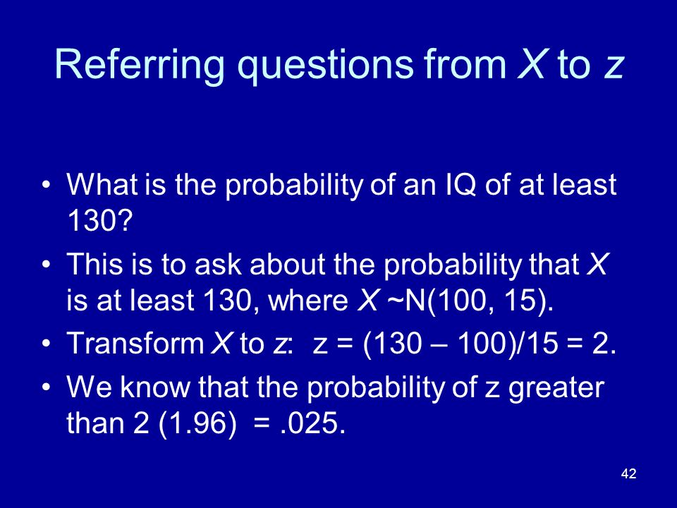 Referring questions from X to z