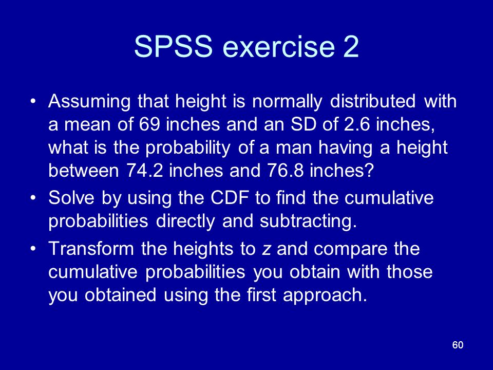 SPSS exercise 2