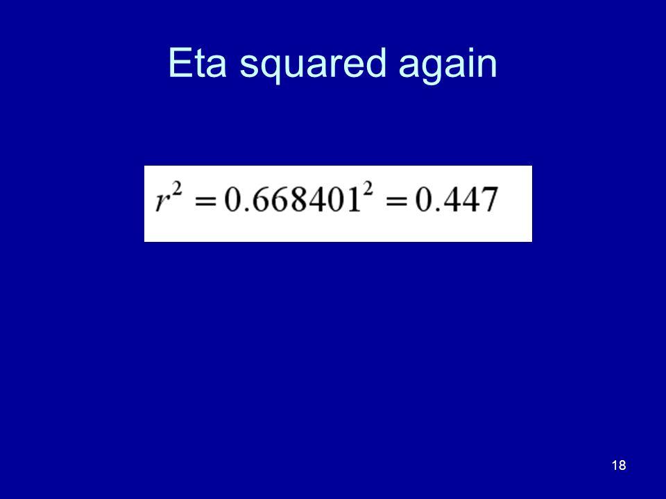Eta squared again