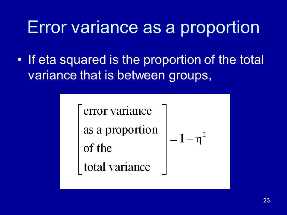 Error variance as a proportion