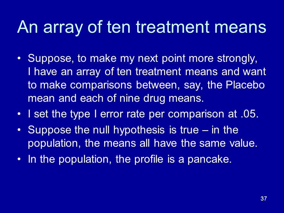 An array of ten treatment means