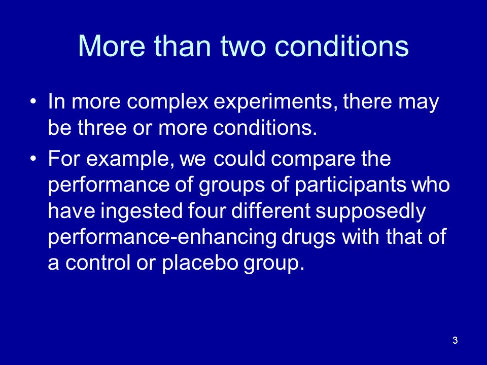More than two conditions