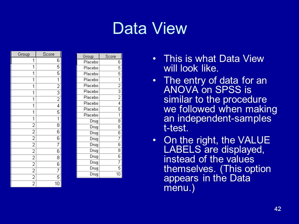 Data View This is what Data View will look like.