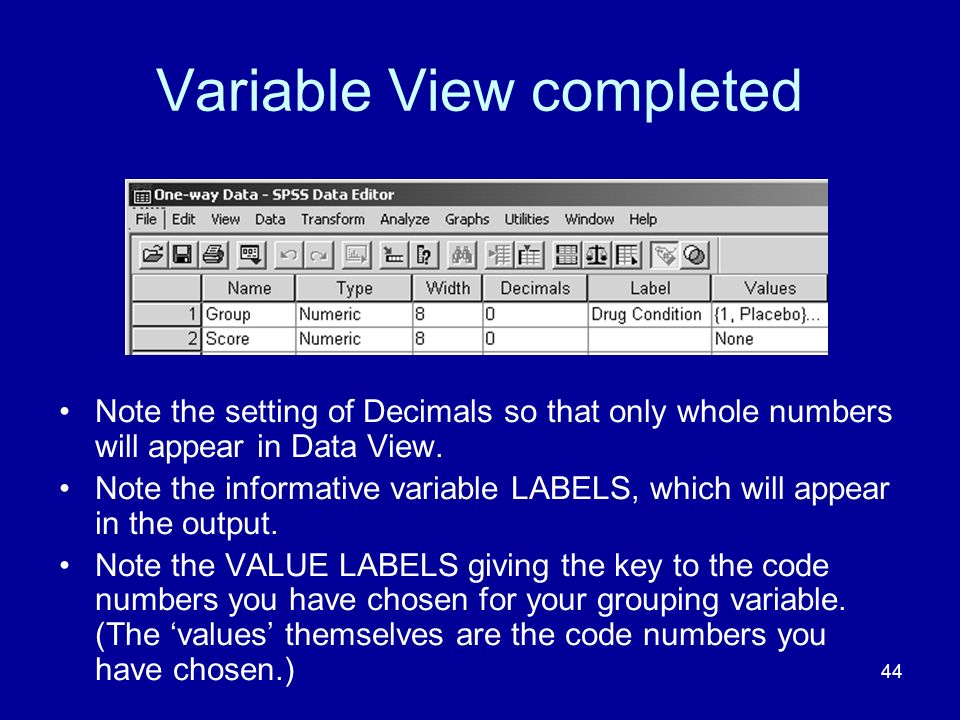 Variable View completed