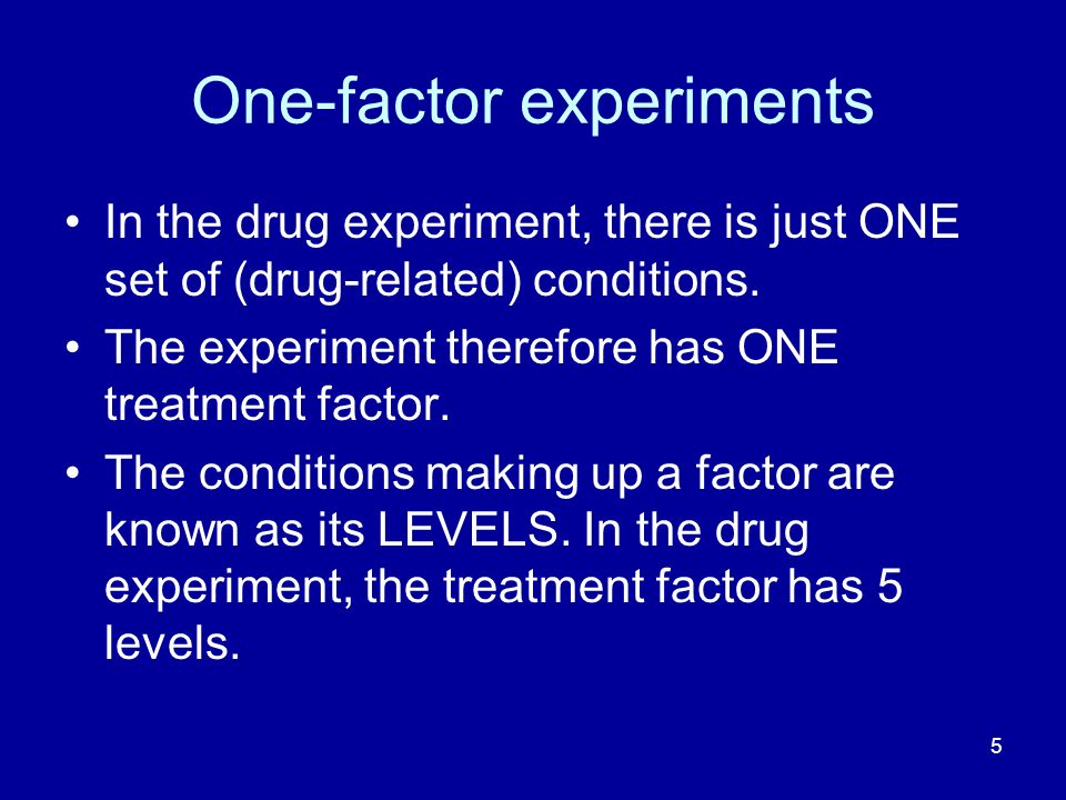 One-factor experiments