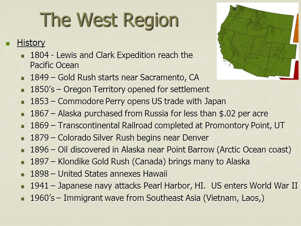 Regions Of The United States Ppt Video Online Download - Facts about the west region