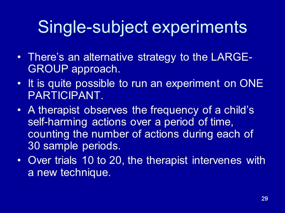 Single-subject experiments