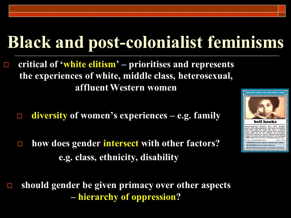Black and post-colonialist feminisms