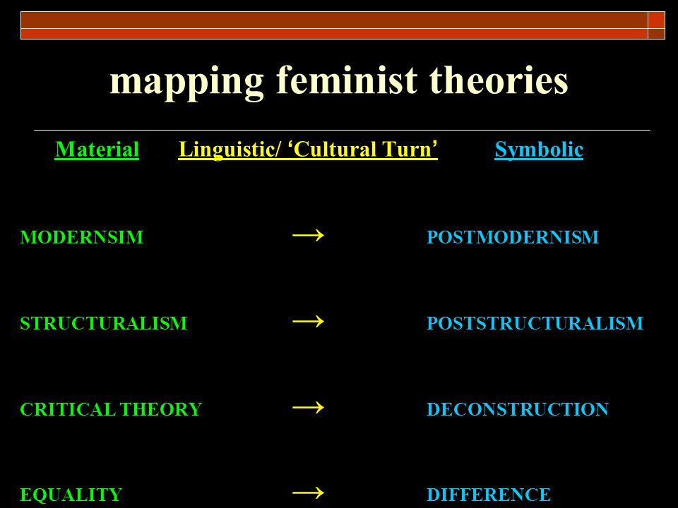 mapping feminist theories
