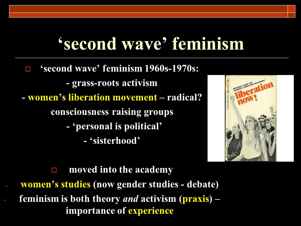 'second wave' feminism