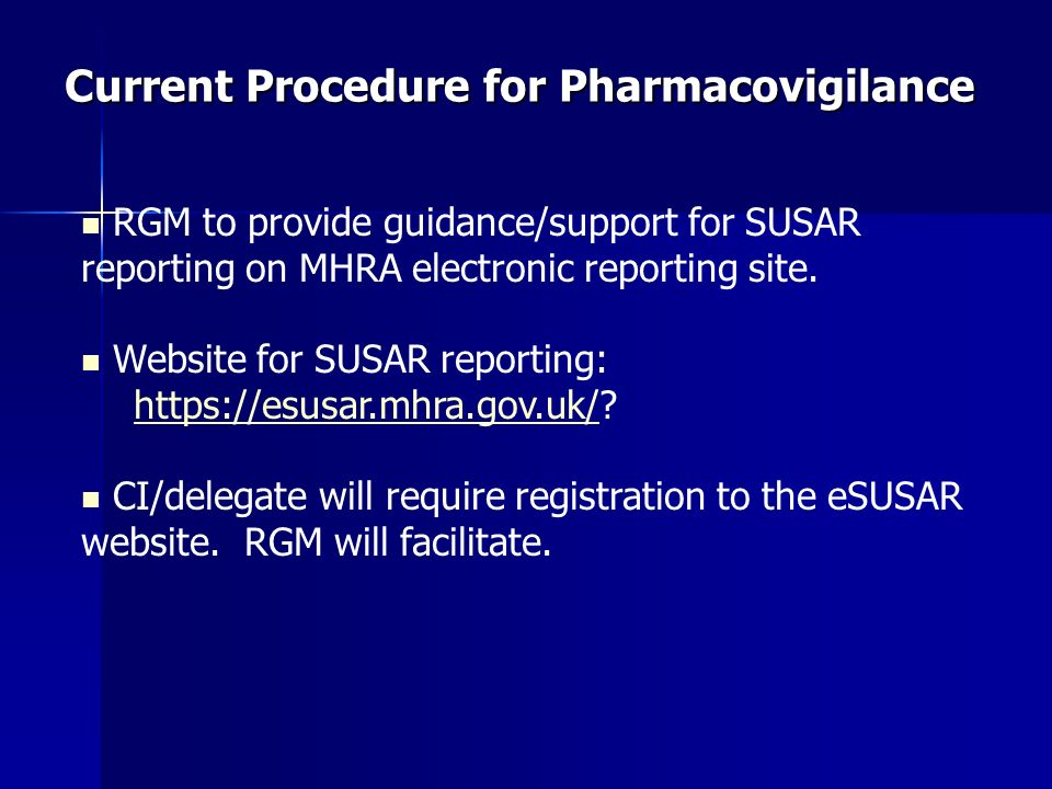 Current Procedure for Pharmacovigilance
