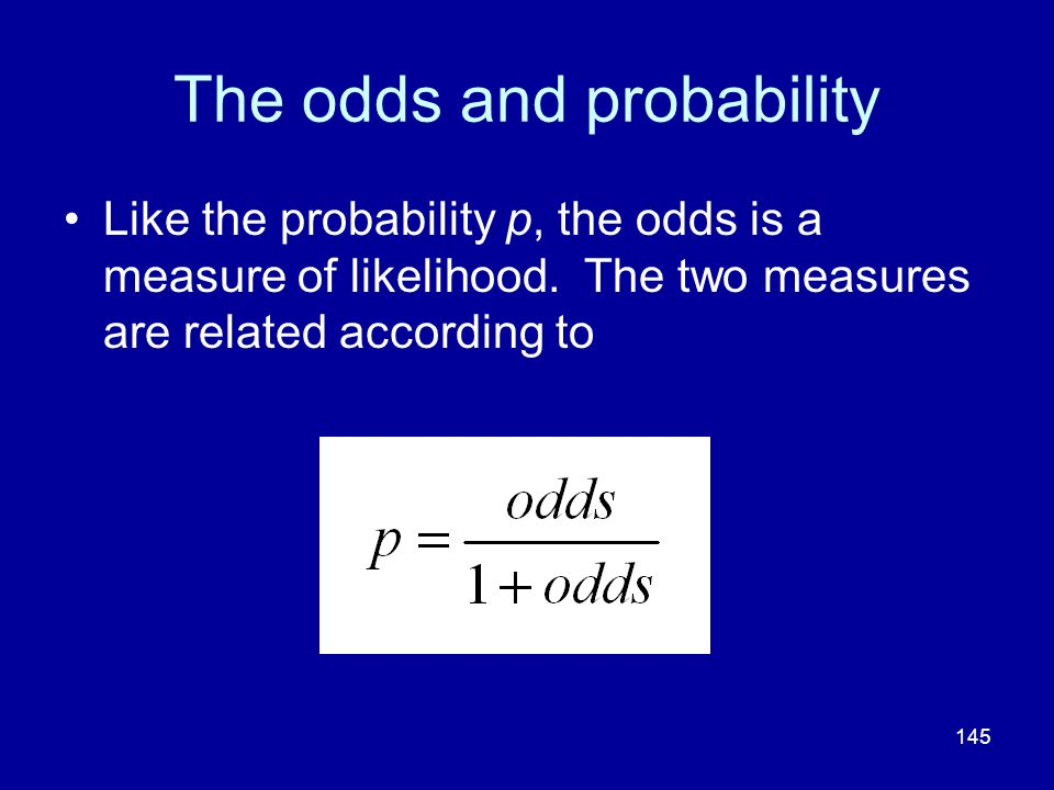 The odds and probability