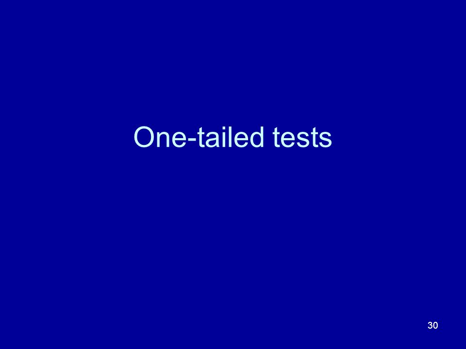One-tailed tests