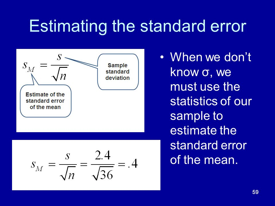 Estimating the standard error