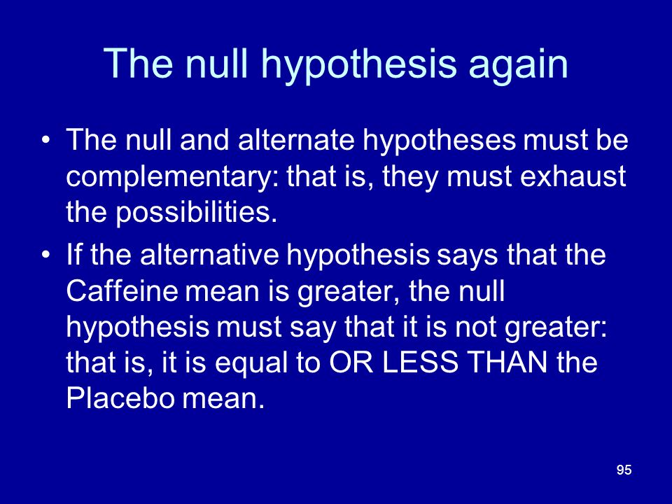 The null hypothesis again