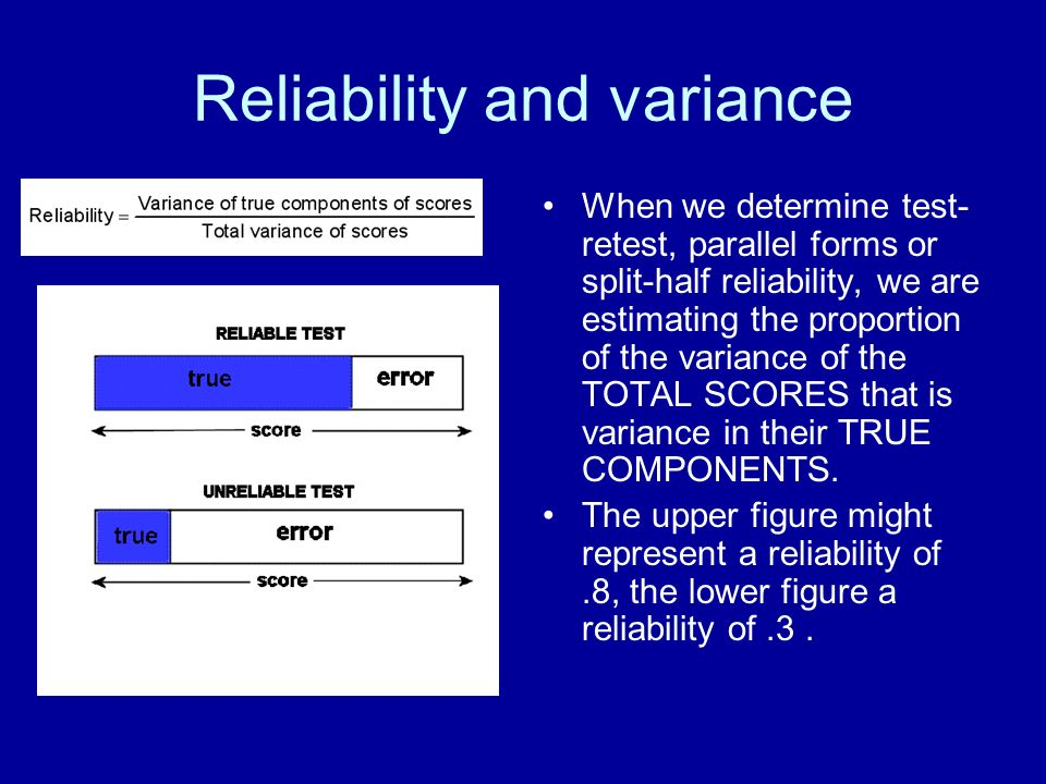Reliability and variance