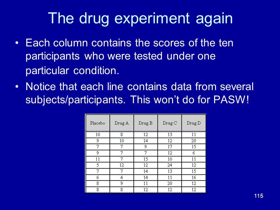 The drug experiment again