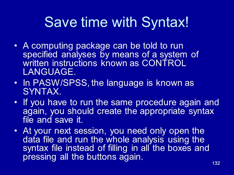 Save time with Syntax!