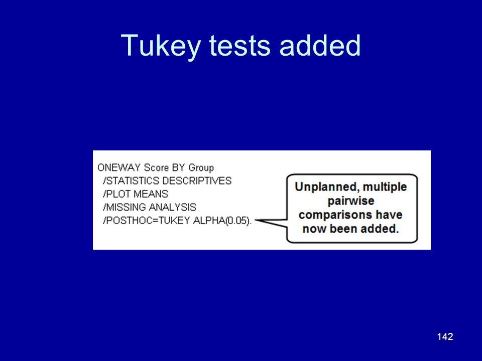 Tukey tests added