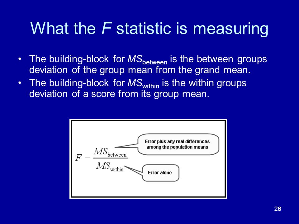 What the F statistic is measuring