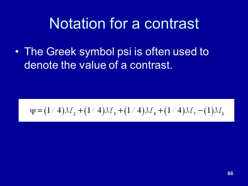 Notation for a contrast