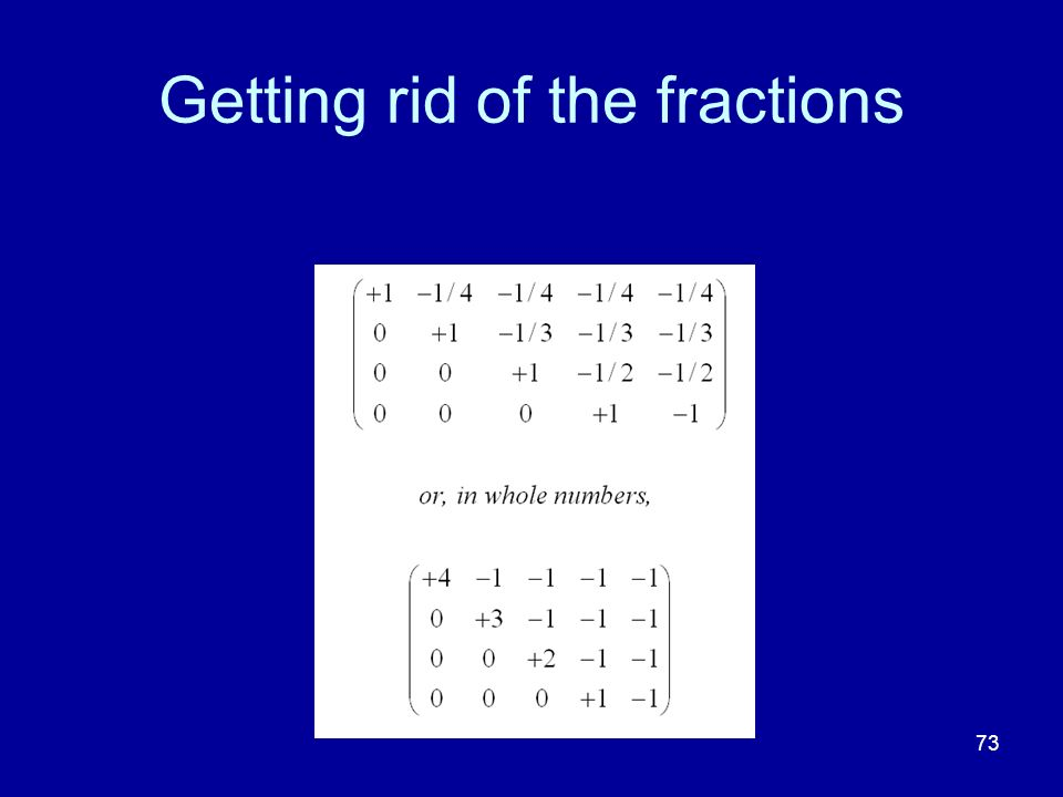 Getting rid of the fractions