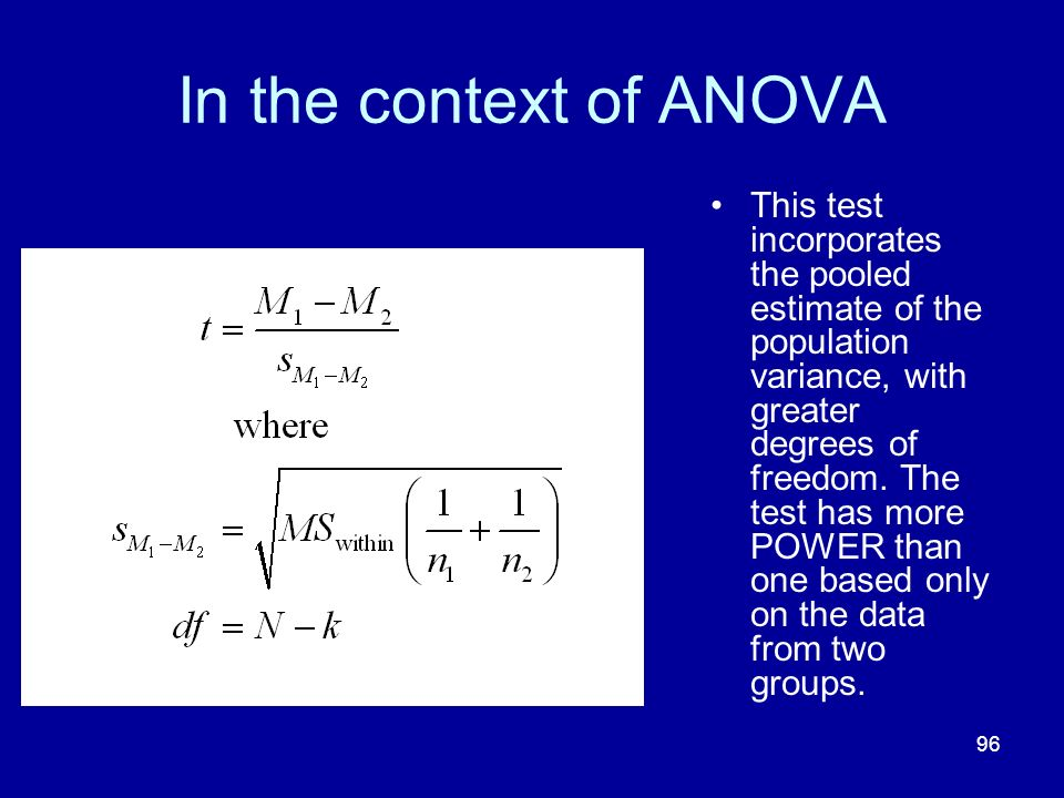 In the context of ANOVA