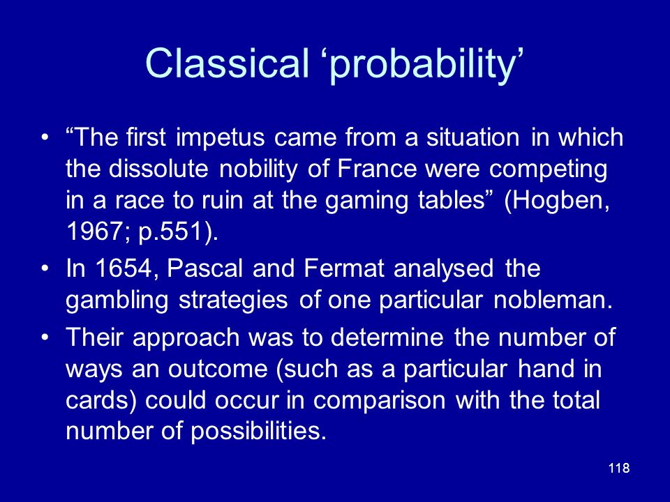 Classical 'probability'